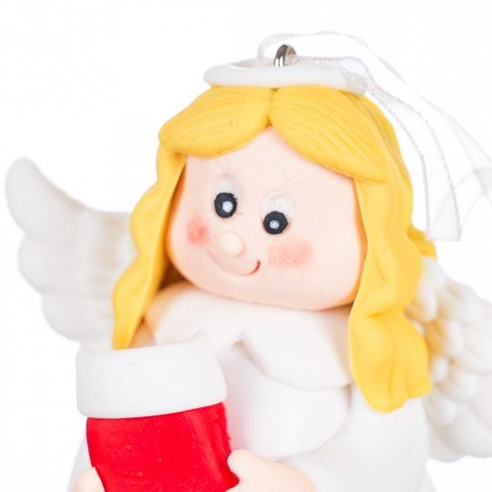 Подвеска новогодняя Ангелочек микс (0527J)