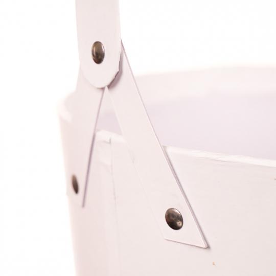 """Коробка для цветов """"Элегантность"""" (белый цвет) 1шт. (0111JA-A)"""