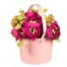 """Коробка для цветов """"Элегантность"""" (пудровый цвет) 1шт. (0111JA-B)"""