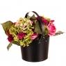 """Коробка для цветов """"Элегантность"""" (черный цвет) 1шт. (0111JA-C)"""