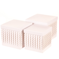 """Набор коробок """"Zigzag"""" (прямоугольник, белый цвет) 3шт."""