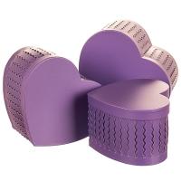 """Набор коробок """"Zigzag"""" (сердце, фиолетовый цвет) 3шт."""