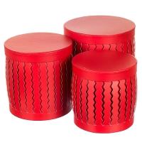 """Набор коробок """"Zigzag"""" (цилиндр,  красный цвет) шт."""