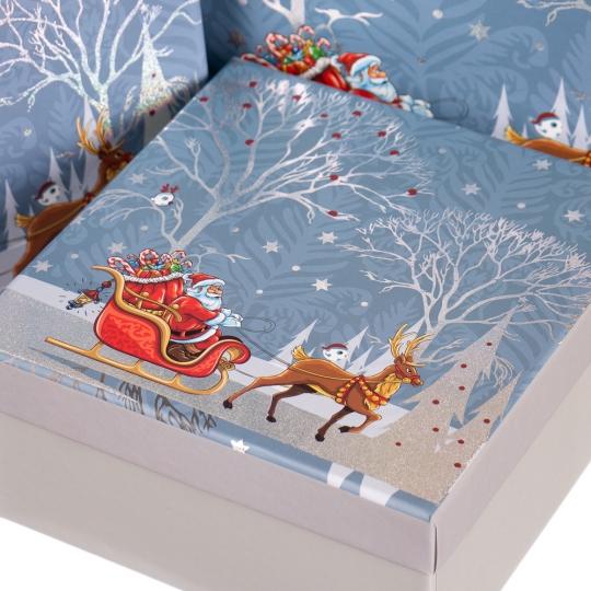 """Набор подарочных коробок """"Снежный лес"""" 3 шт. Средние (8013-008)"""