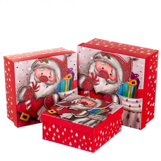 """Набор подарочных коробок """"Новогоднее чудо"""" 3 шт. средние (8013-010)"""