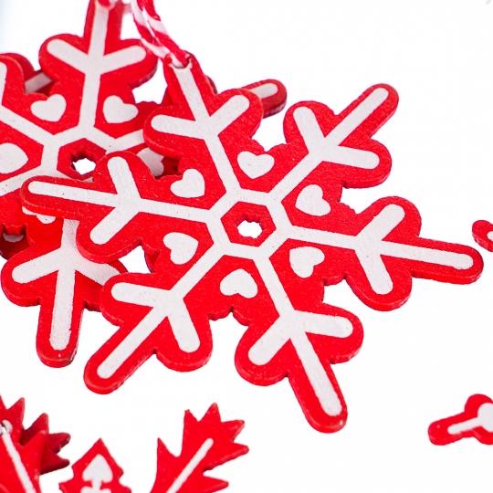 """Набор подвесок """"Морозные узоры"""" (микс, 12шт) (0448j)"""