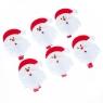 """Набор прищепок """"Дед Мороз"""" (6шт) (0452j)"""