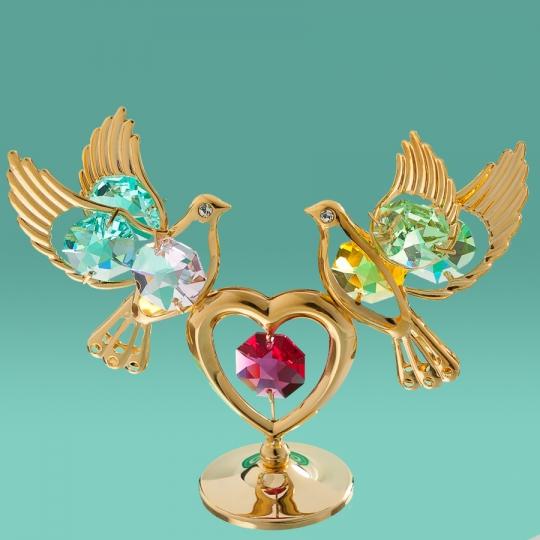 "Фигурка ""Два голубя на сердце"" (0164-001/GA)"