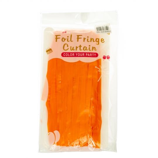 Декоративная шторка для фотозоны, оранжевая (8707-002)
