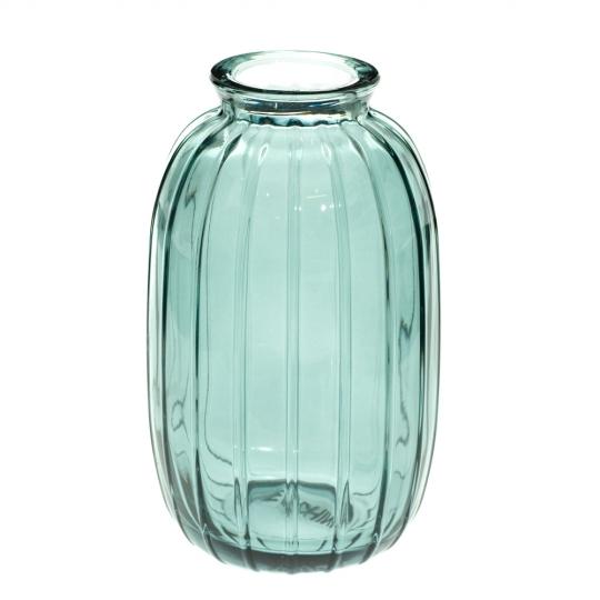 """Стеклянная ваза """"Ричи"""", 12 см., зеленая (8605-049)"""