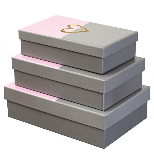 """Набор с 3 коробок """"Сердце"""" *рандомный выбор дизайна (8142-003)"""