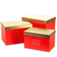 "Набор коробок ""Элегантность"" (red)"