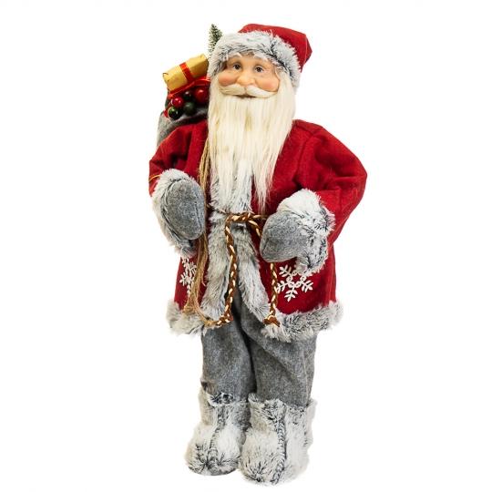 """Фигура """"Дед Мороз с мешком и ёлкой"""" (028NC)"""