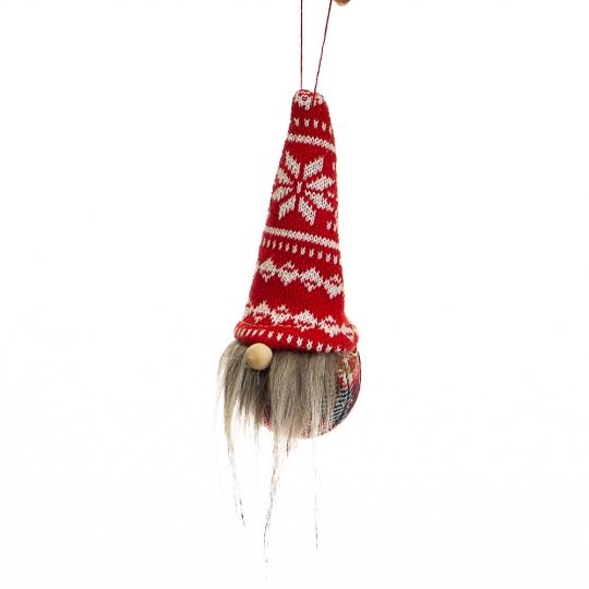 """Игрушка """"Гном - шарик с серой бородой"""" (025NV)"""