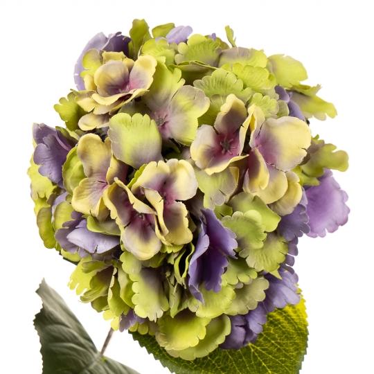 """Цветок искусственный """"Гортензия лимонно-лиловая"""" (2000-004PL)"""