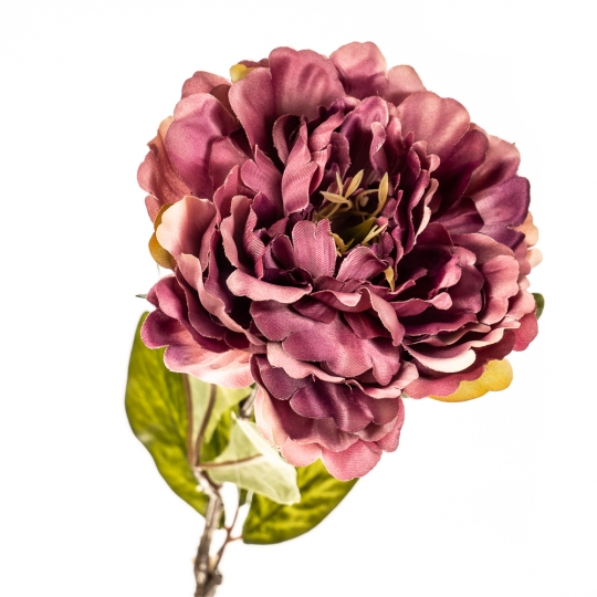 """Цветок искусственный """"Пионовидная роза бордо"""" (2000-017PL)"""