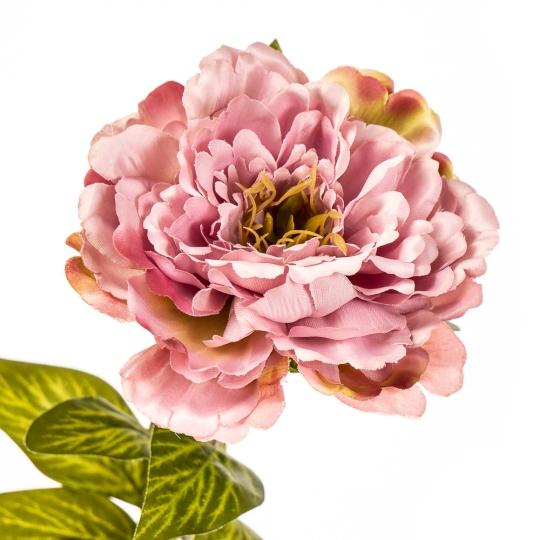 """Цветок искусственный """"Пионовидная роза нежно-розовая"""" (2000-018PL)"""