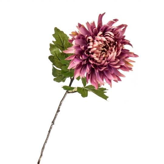 """Цветок искусственный """"Хризантема вишнёвая"""" (2000-027PL)"""