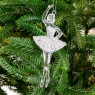 """Украшение """"Балерина в серебряном платье"""" (004NR/silver)"""