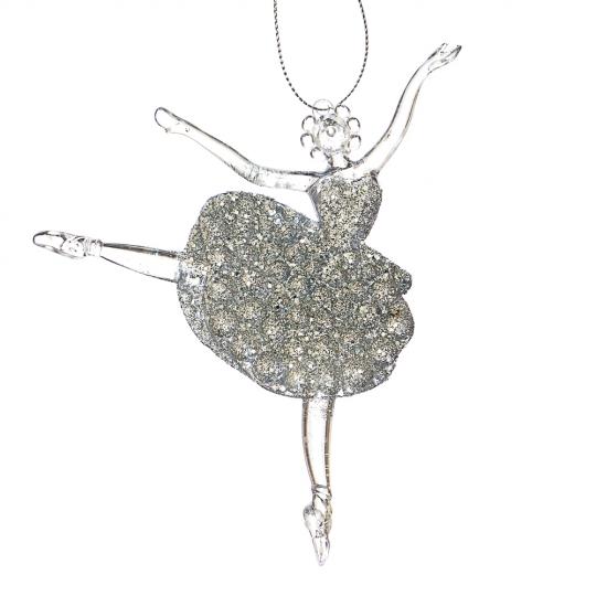 "Ёлочная игрушка ""Серебряная балерина"" (006NR/silver)"