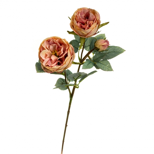 Ветка розы, розовая (8721-021)