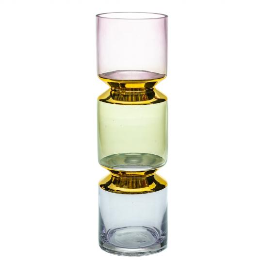 "Стеклянная ваза ""Чакры"", 40 см. (8604-007)"