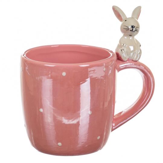 Чашка Весёлый кролик, красная (400 мл) (4000-004/RED)