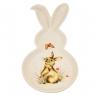 Тарелка пасхальная в форме кролика с принтом (4002-010)
