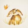 Тарелка Сказочный кролик и бабочка (4002-011)
