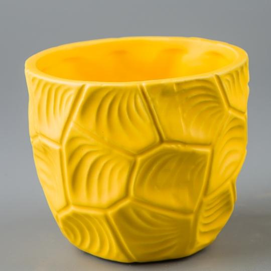 Керамический вазон (11*11*10 см) (002-O)