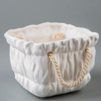 Керамический вазон (13*13*10 см)