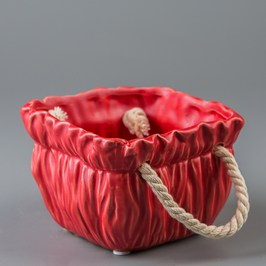 Керамический вазон (11*11*8 см) (009-O)