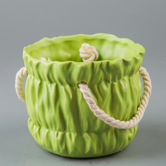 Керамический вазон (11*11*10 см) (010-O)