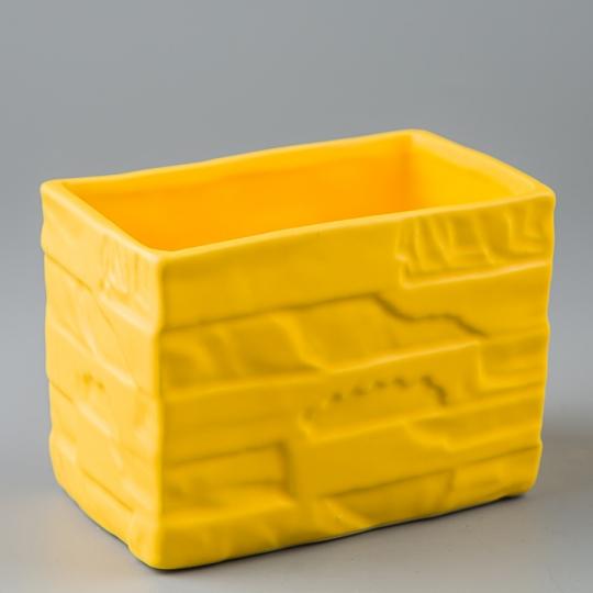 Керамический вазон (14*9*10 см) (011-O)