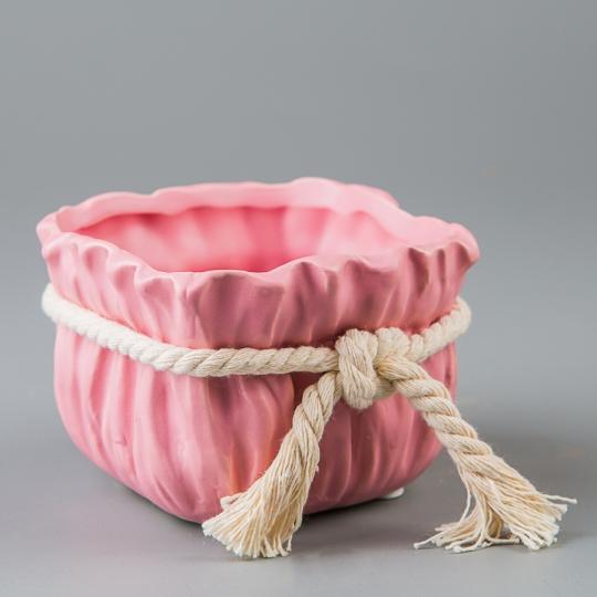 Керамический вазон (9,5*9,5*7 см) (015-O)