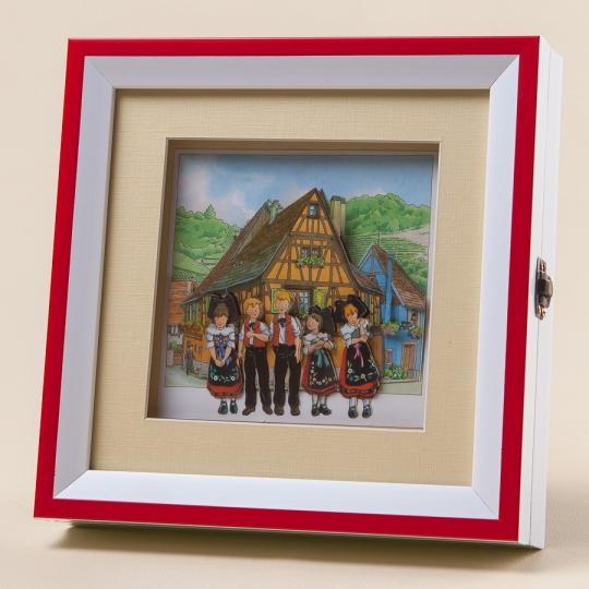 Ключница-картина (20*20 см) (017KH)