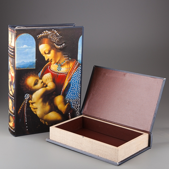 """Книга-шкатулка """"Мадонна с младенцем"""" (22*7*33 см)"""